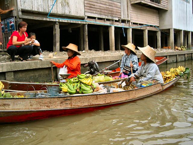 mercados flotantes bangkok