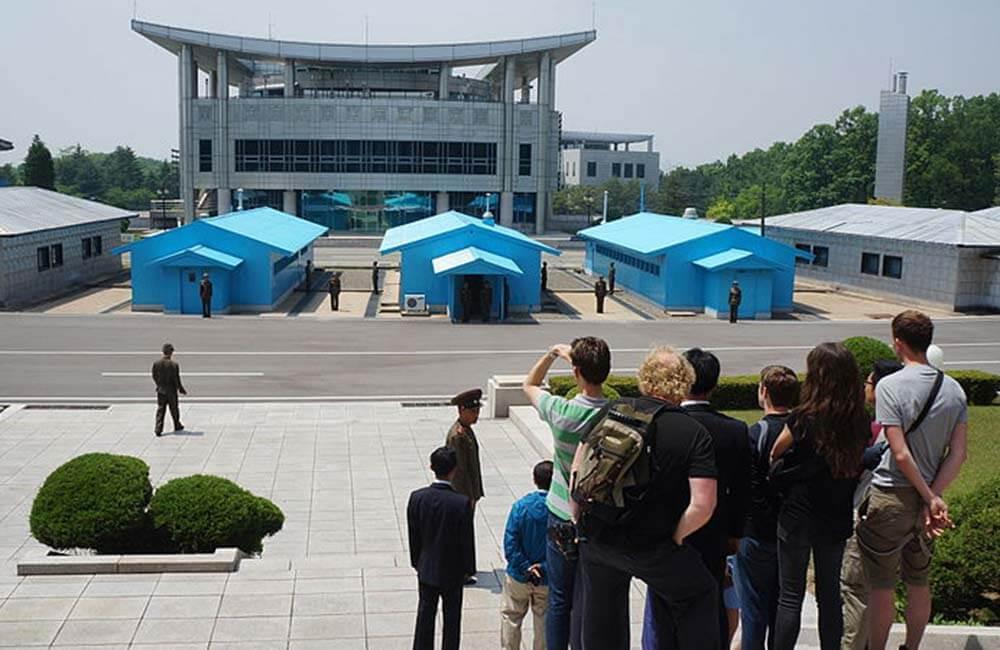 Turistas en Corea del Norte