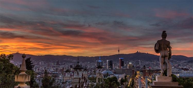 Foto de Barcelona desde el MNAC